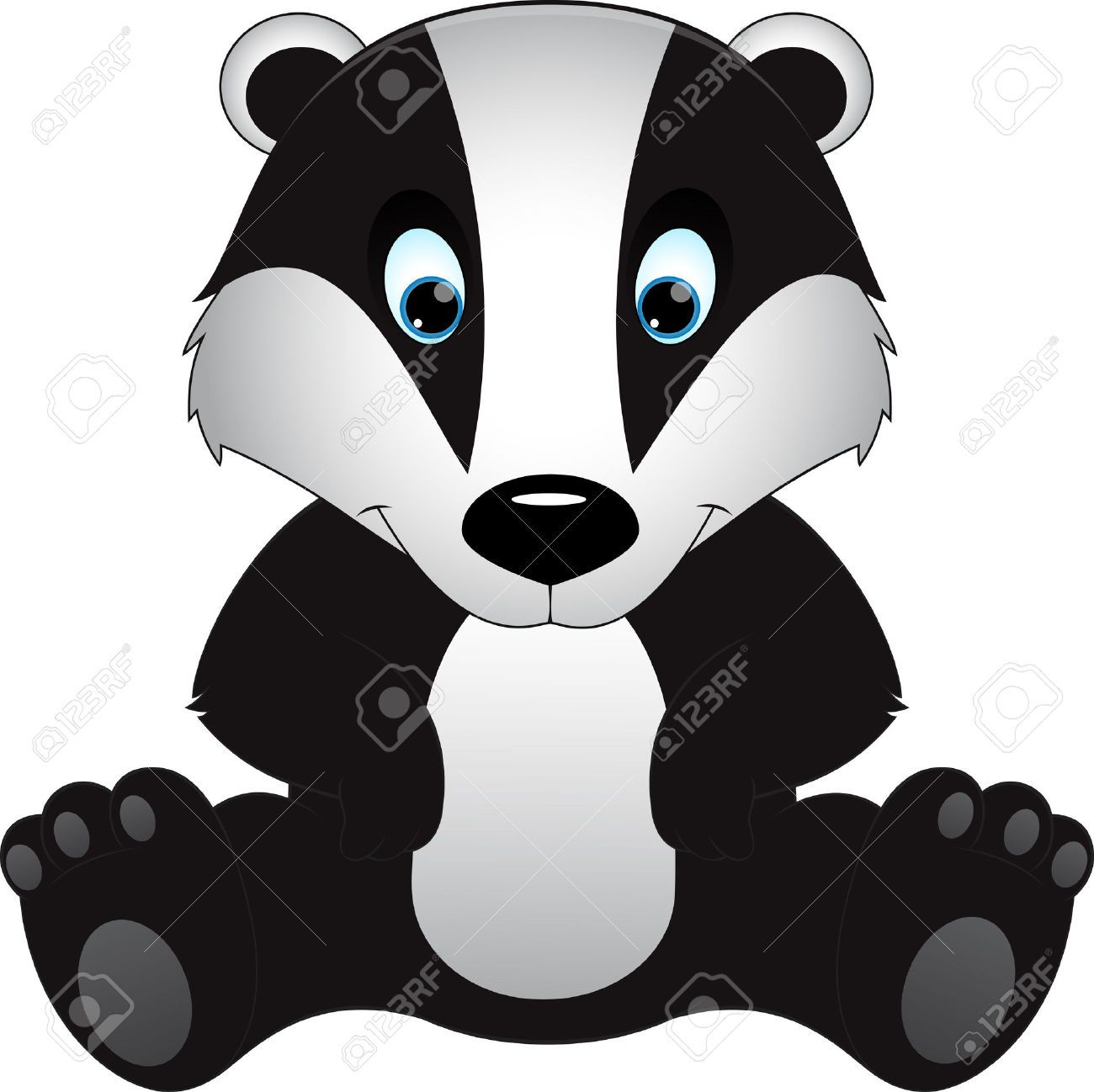 clip black and white download Badger clipart animated. Transparent free