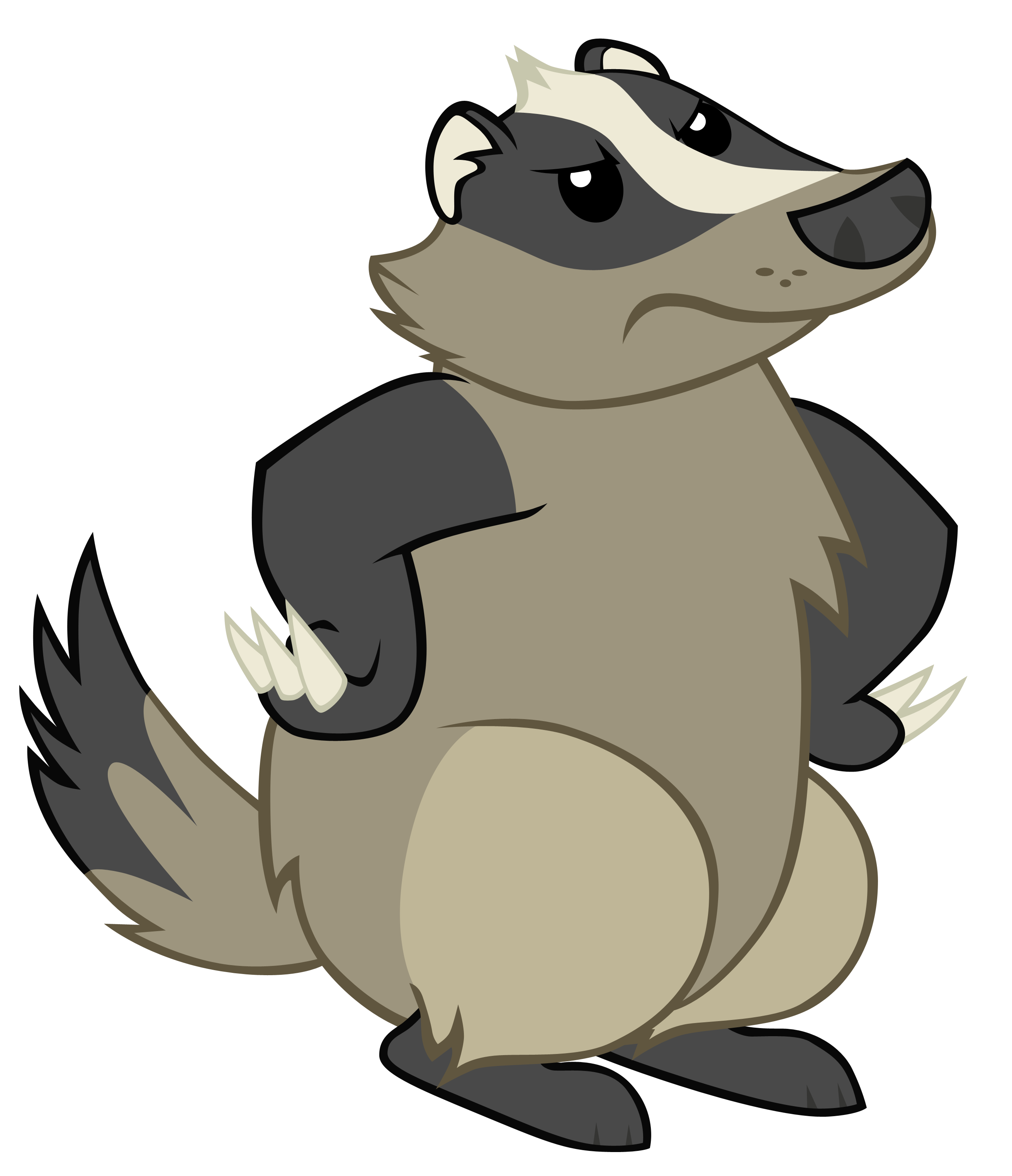 clip library library Badger clipart animated. Pencil and in color