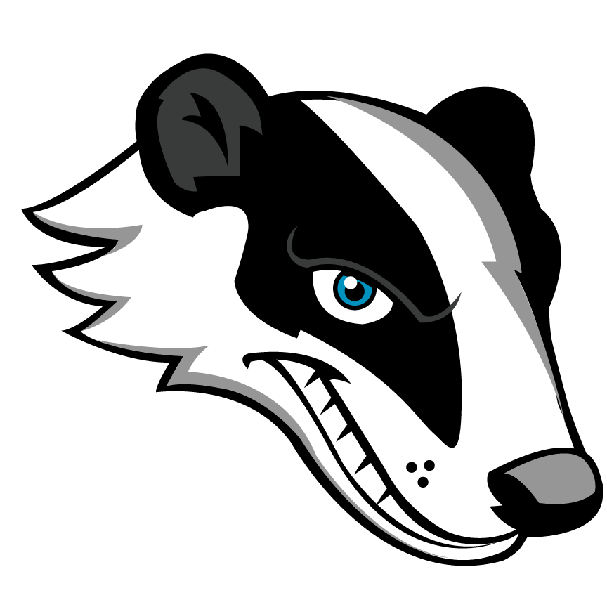 svg library Badger clipart animated. Honey tiger free mascot