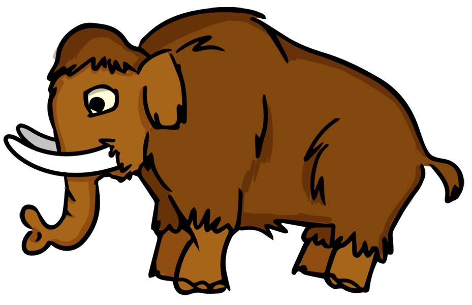 clip art black and white library Mammoth free on dumielauxepices. Badger clipart animated