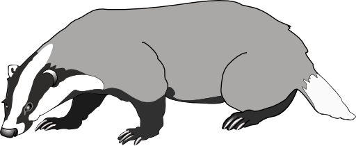clip art royalty free Top Of Badger Clipart Black And White