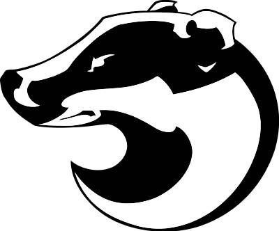 black and white Badger clipart clip art. Mascots badgers my honey.