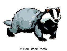 image stock Badger clipart clip art. Vector illustrations .