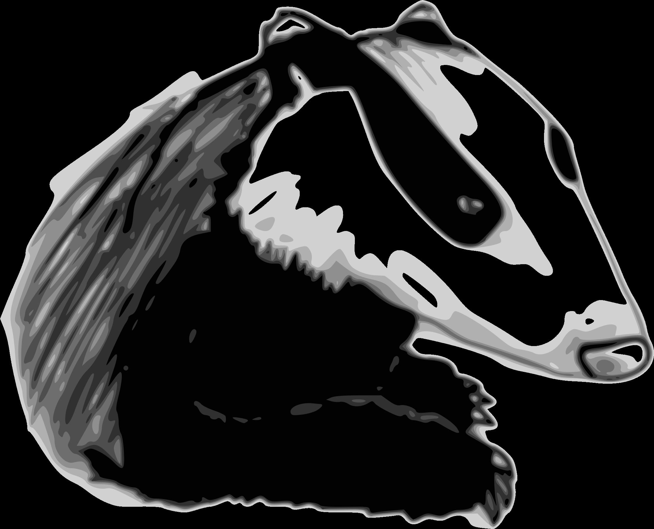 svg download . Badger clipart clip art.