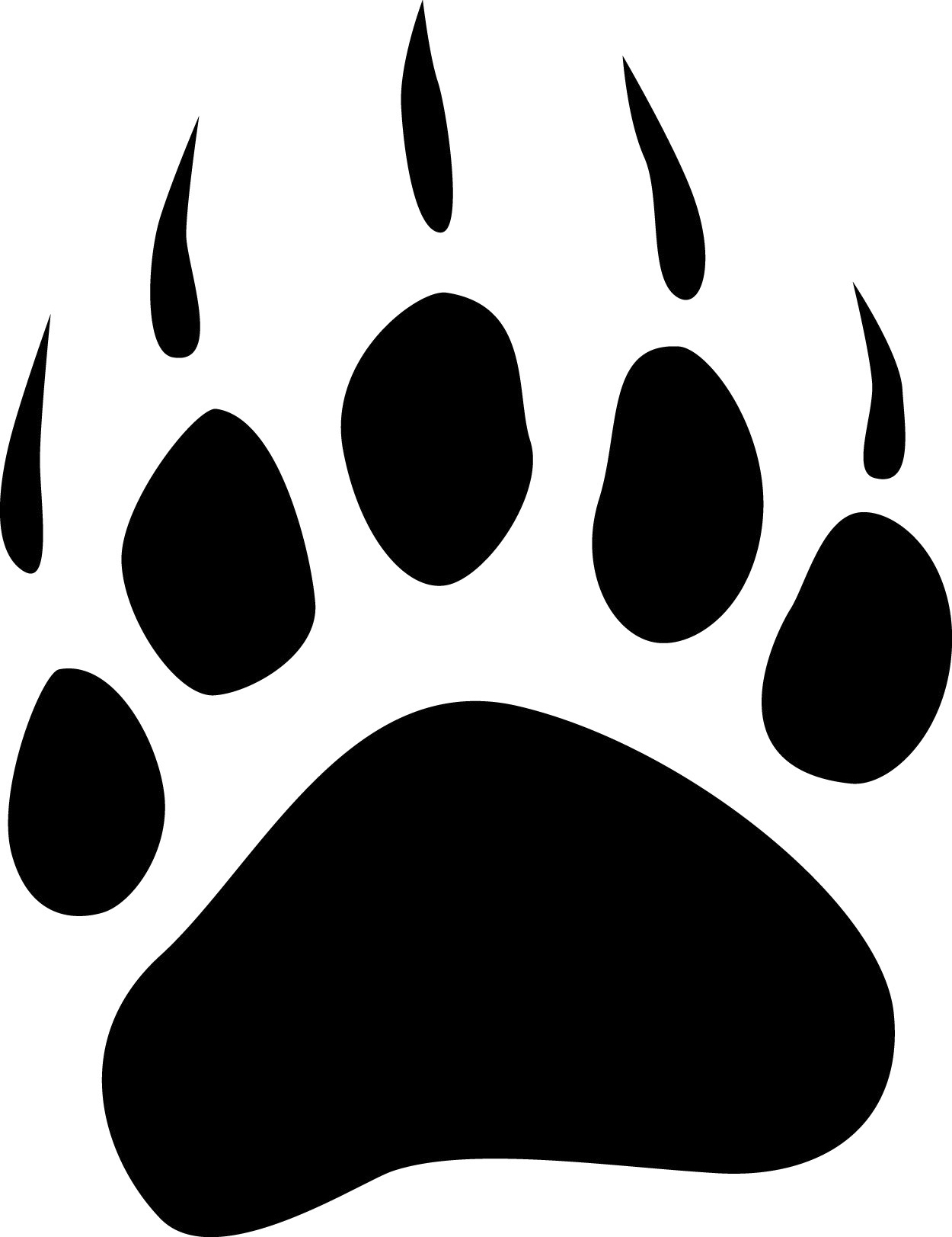 svg library library Collection of badger free. Grizzly clipart bear footprint