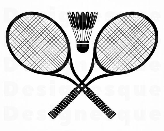 image freeuse stock Svg files for cricut. Badminton clipart.