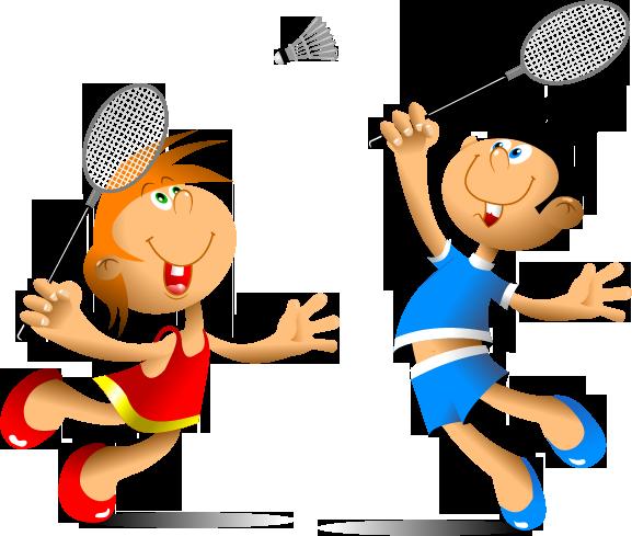 clip transparent download badminton clipart child #22271955