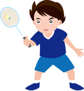 clip royalty free Summer is here child. Badminton clipart kid play.