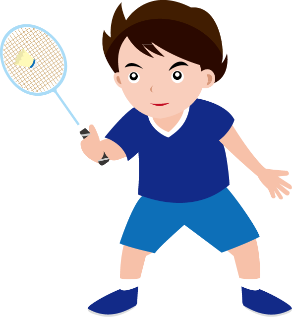 clip art royalty free Badminton clipart kid play. Player free on dumielauxepices.