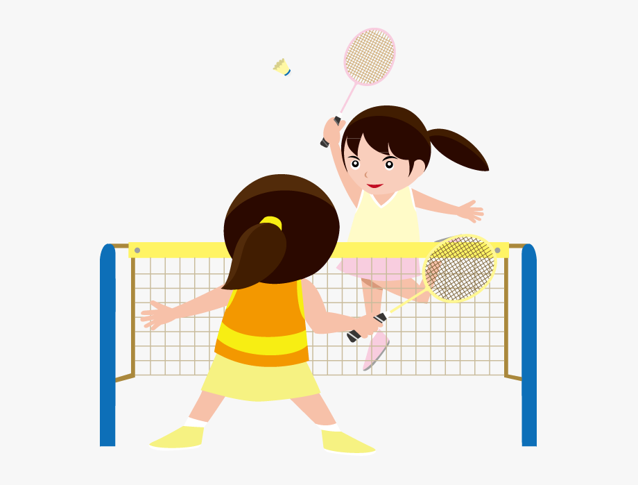 graphic royalty free library Badminton clipart kid play. Kids playing clip art.