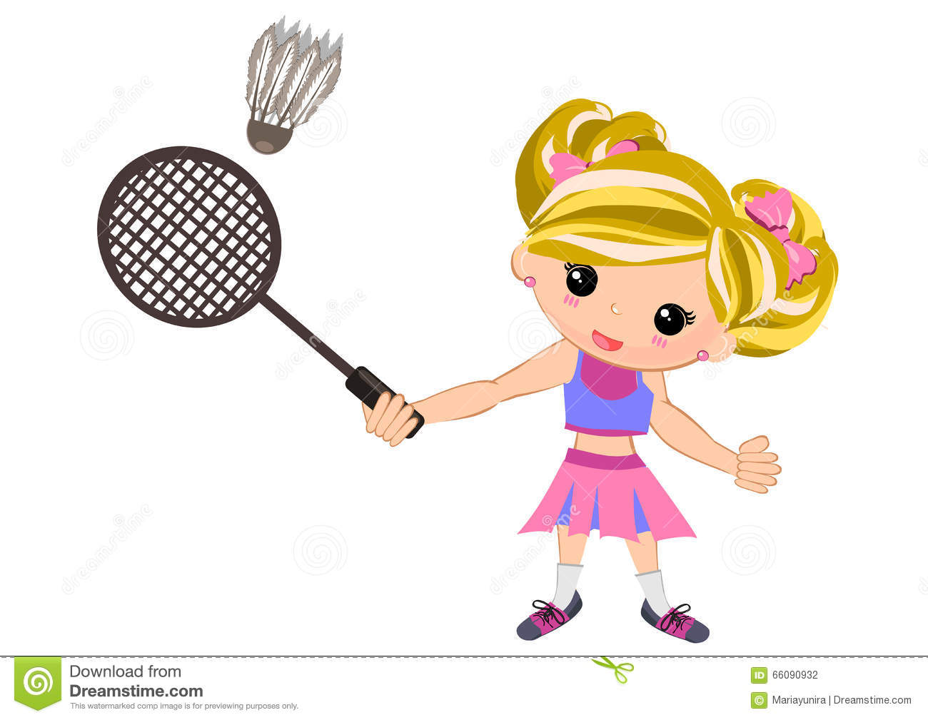 banner freeuse download Kids playing station . Badminton clipart kid play.