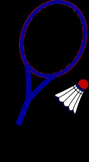 banner transparent Words clipart tennis. Badminton racquet and birdie