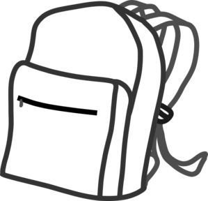 svg freeuse stock Clip art at clker. Bookbag clipart empty backpack.