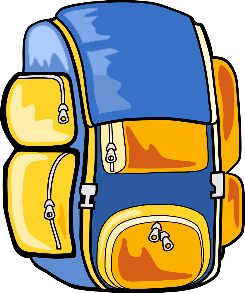 royalty free download Camp bag free on. Bookbag clipart heavy
