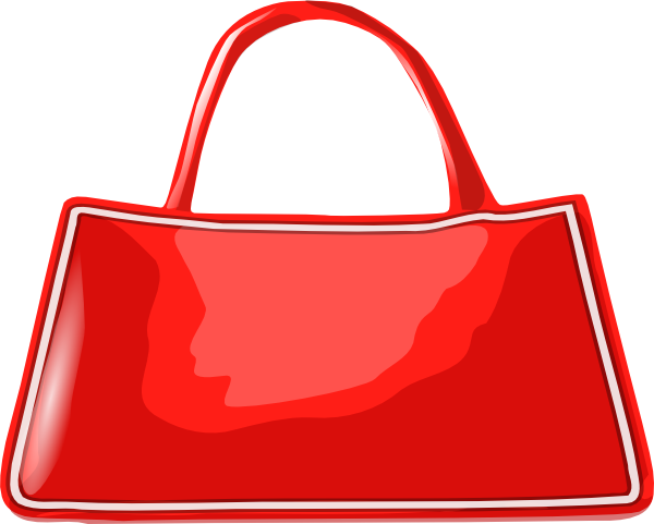 svg black and white library Bags clipart library bag. Women red purse free.