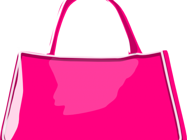 banner black and white library Women Bag Clipart