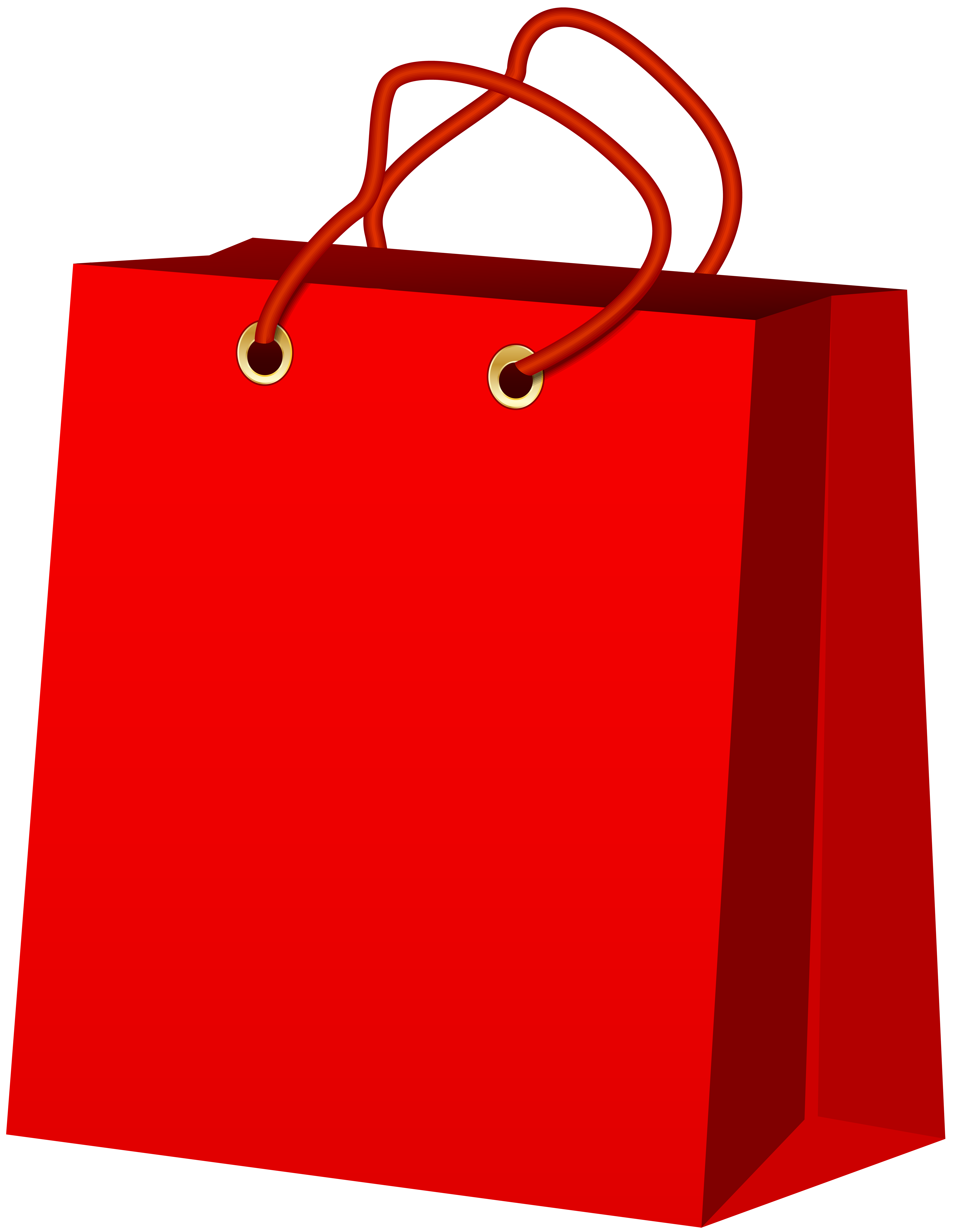 png free stock Supermarket clipart bag store. Red gift png clip