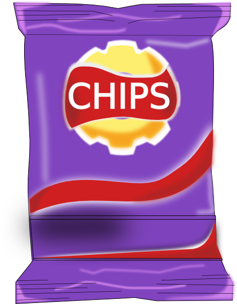 banner royalty free Chips Packet Clip Art at Clker