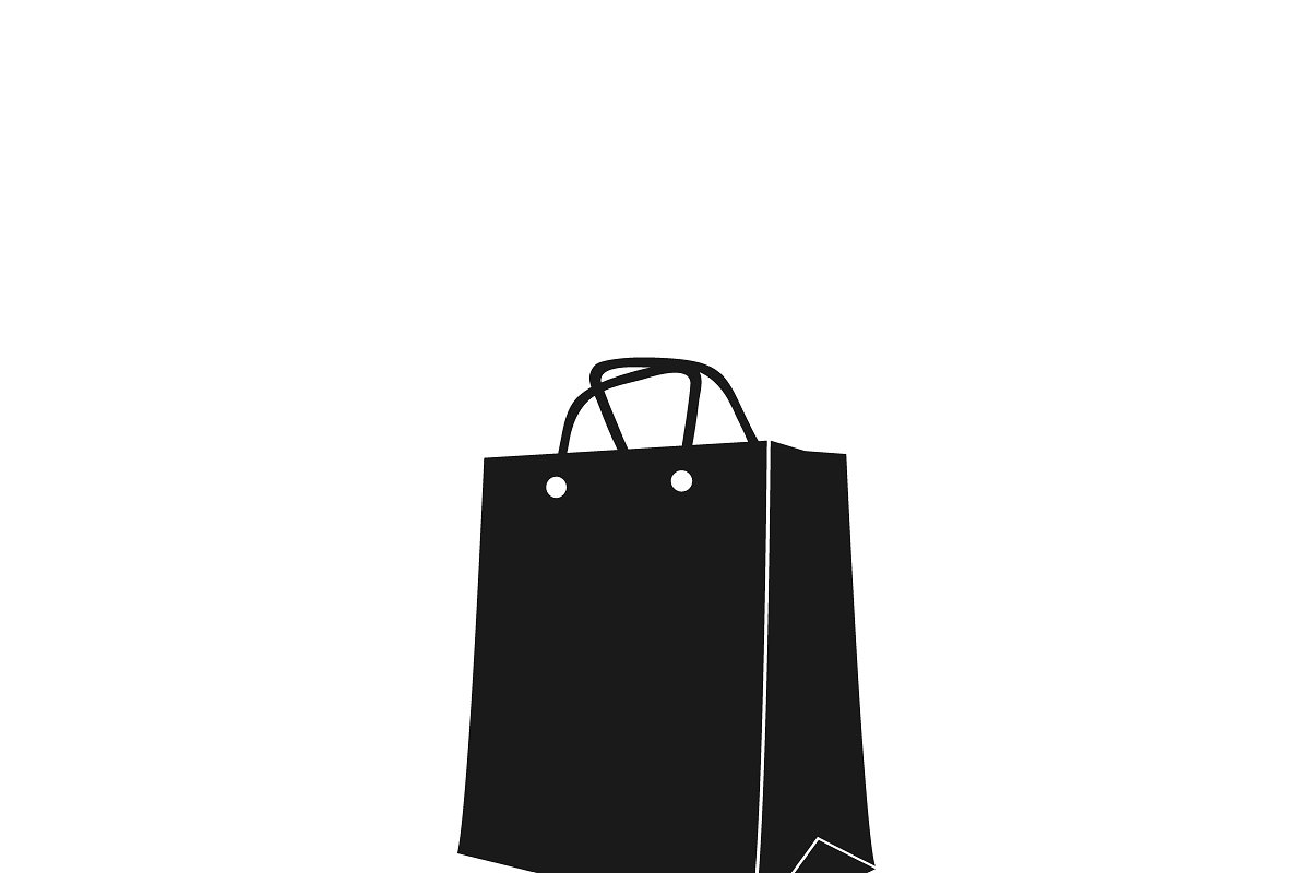 image free download Icon of shopping . Bag vector