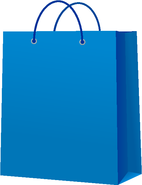 picture transparent stock Bag vector. Paper blue icon svg