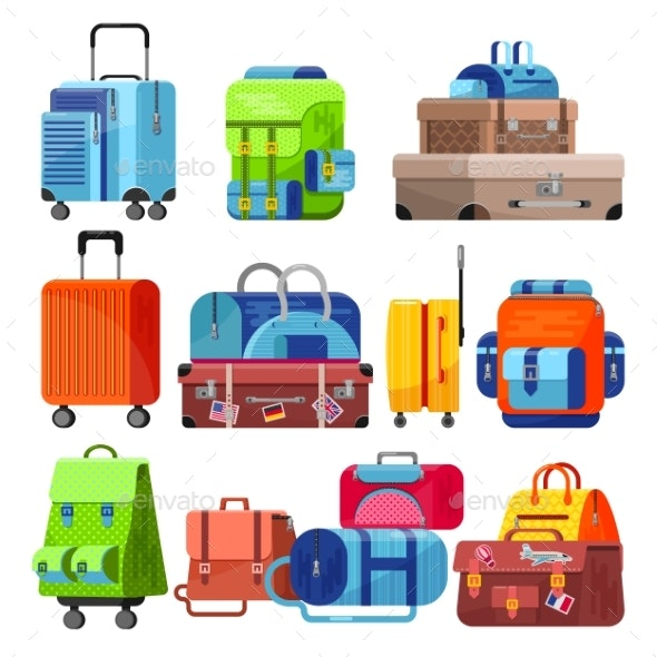 clipart download Bag vector. Travel luggage suitcase for