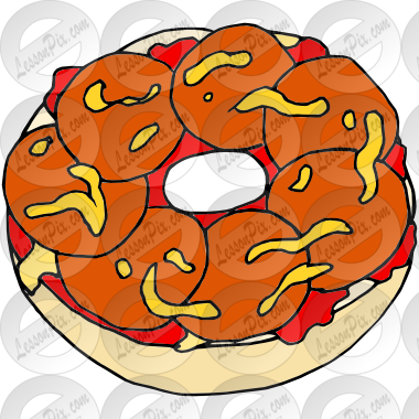 image free stock Bagel clipart. Pizza picture for classroom
