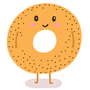 transparent download Bagel clipart coffee bagel. Meets dating app by.