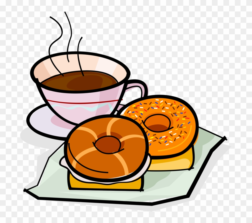 vector Picture transparent library drawing. Bagel clipart coffee bagel.