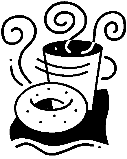 clipart freeuse library Bagel clipart coffee bagel. Transparent .