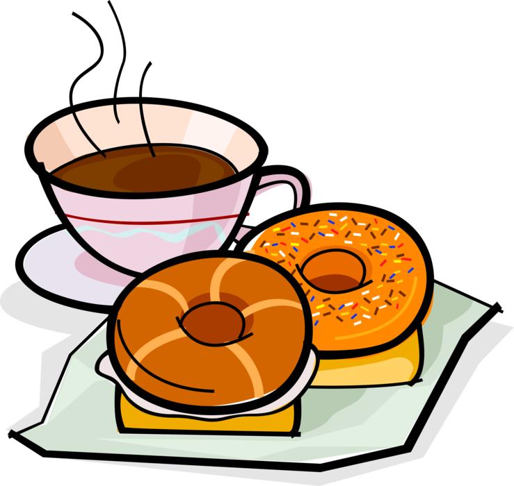 picture library download Bagel clipart coffee bagel. And donut or doughnut.