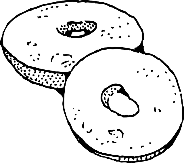 graphic freeuse Bagel Clipart old