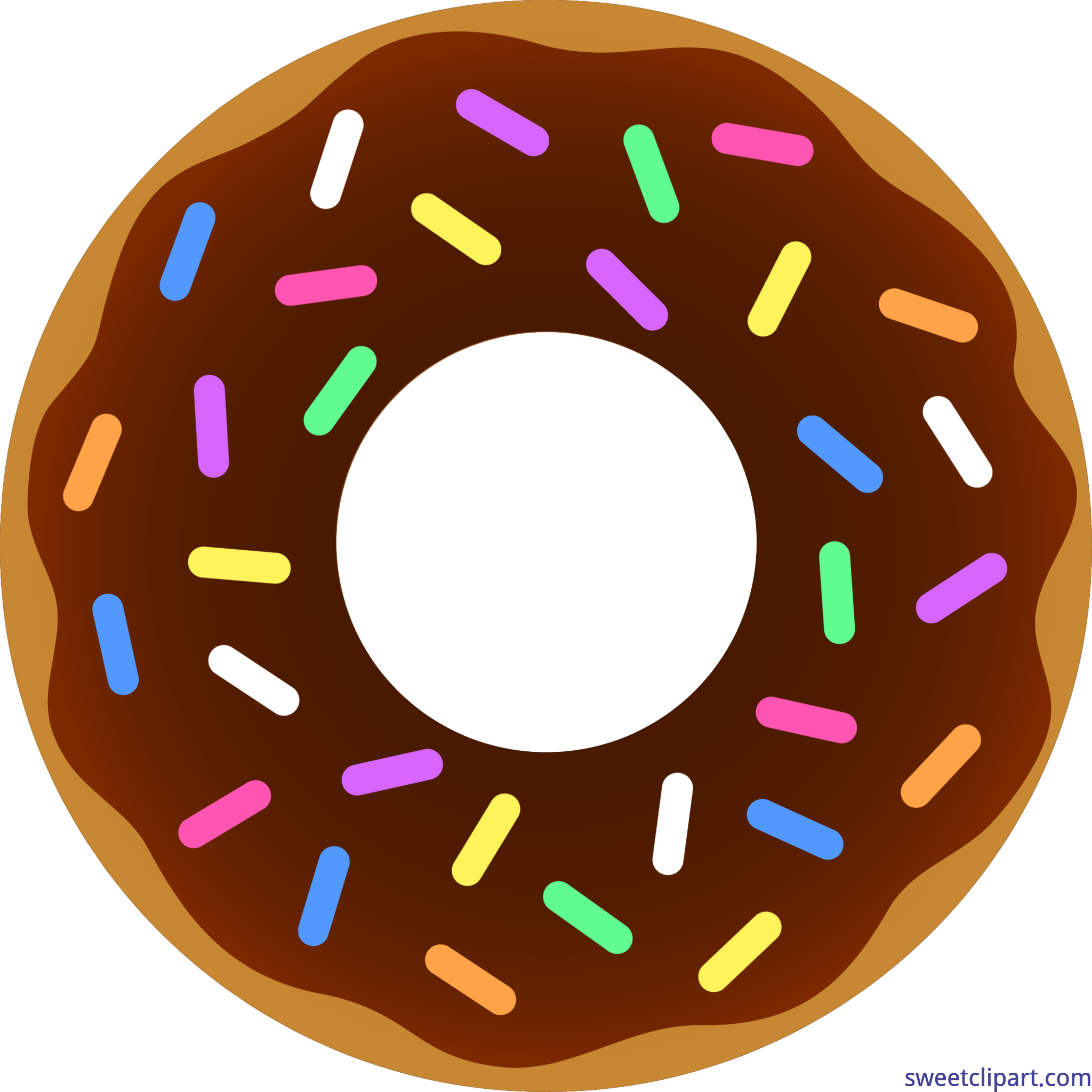 royalty free library Vector donut psd. Chocolate sprinkles clip art