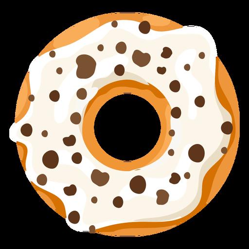 banner free Vanilla doughnut illustration transparent. Vector donut flat