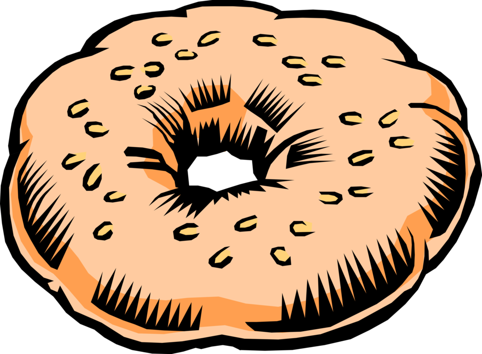 vector stock Bread Product Bagel