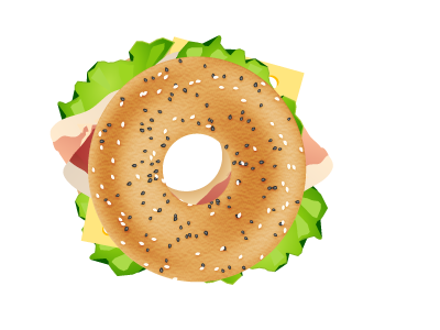 picture library library Bold inspiration sandwich by. Bagel clipart