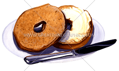 clip free stock bagel drawing cream cheese #89703735