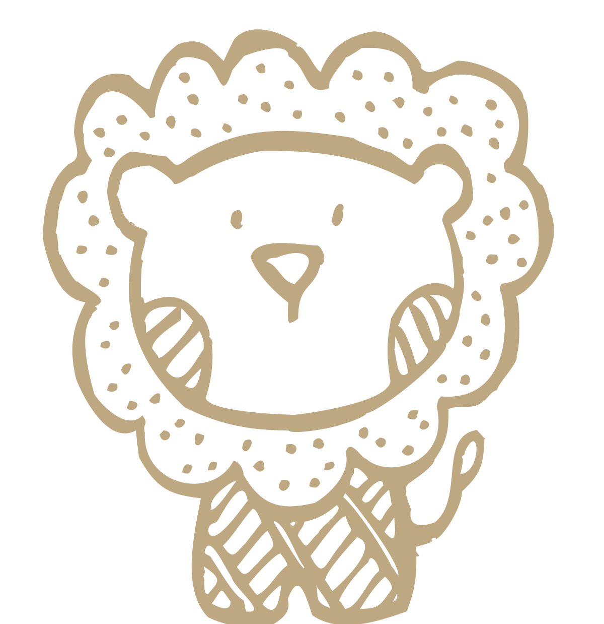 png freeuse stock Bean drawing cute. Lion little transprent png