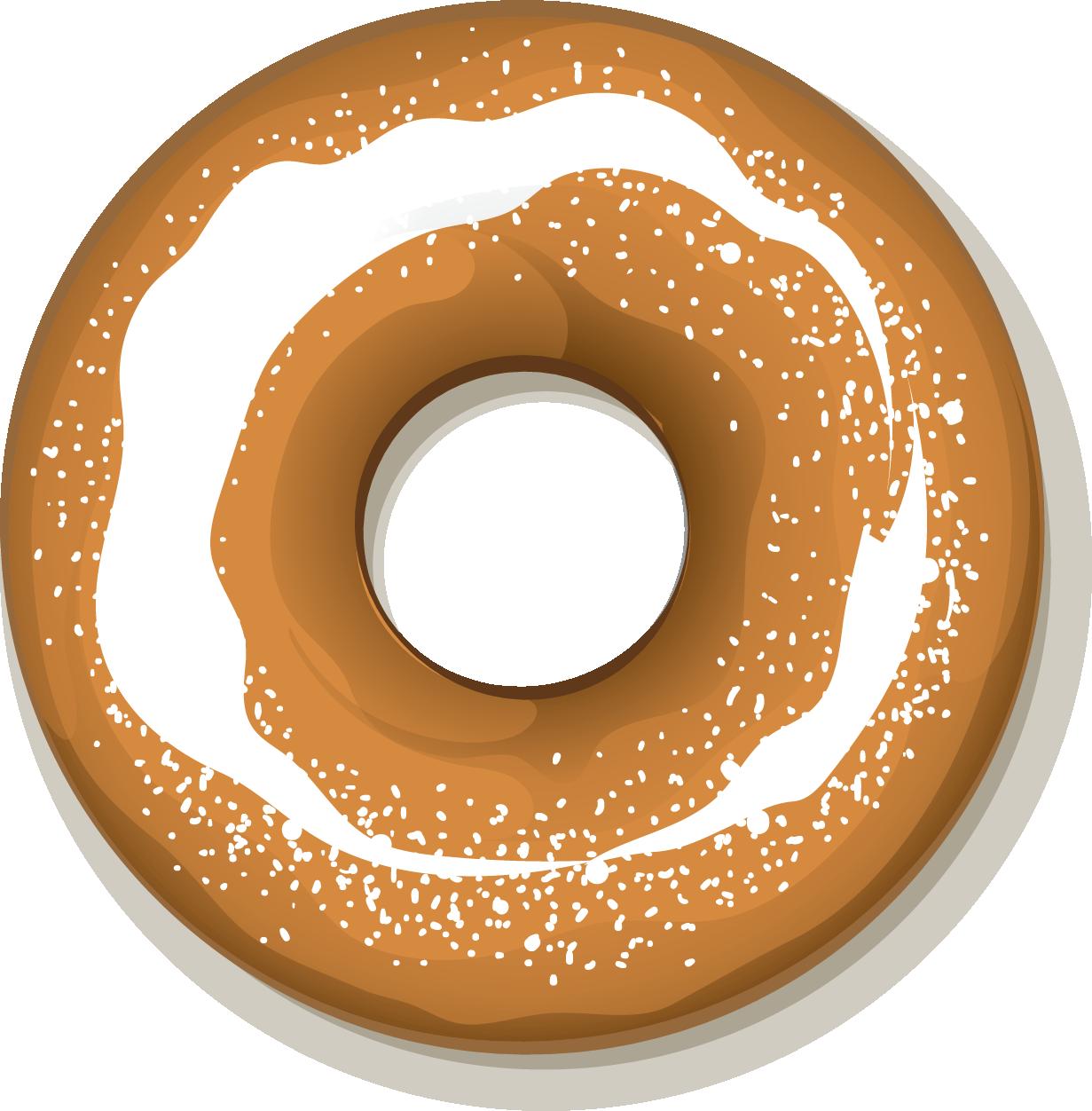 clipart free stock Doughnut icon cartoon transprent. Vector donut bagel