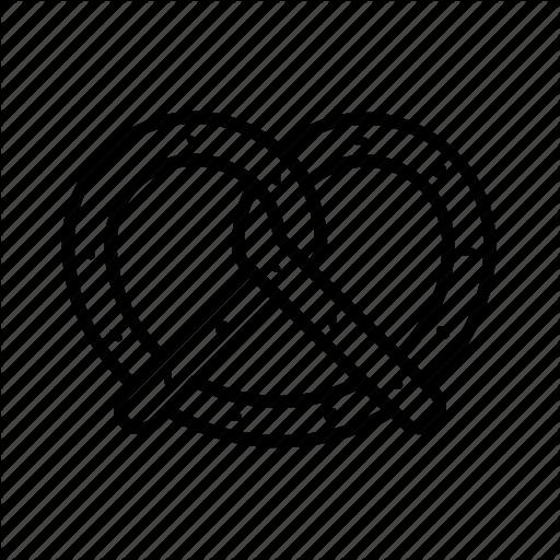 clip library download bagel drawing pretzel #89704236