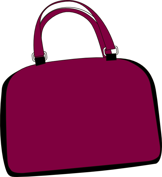 vector download Luggage purple free on. Bags clipart