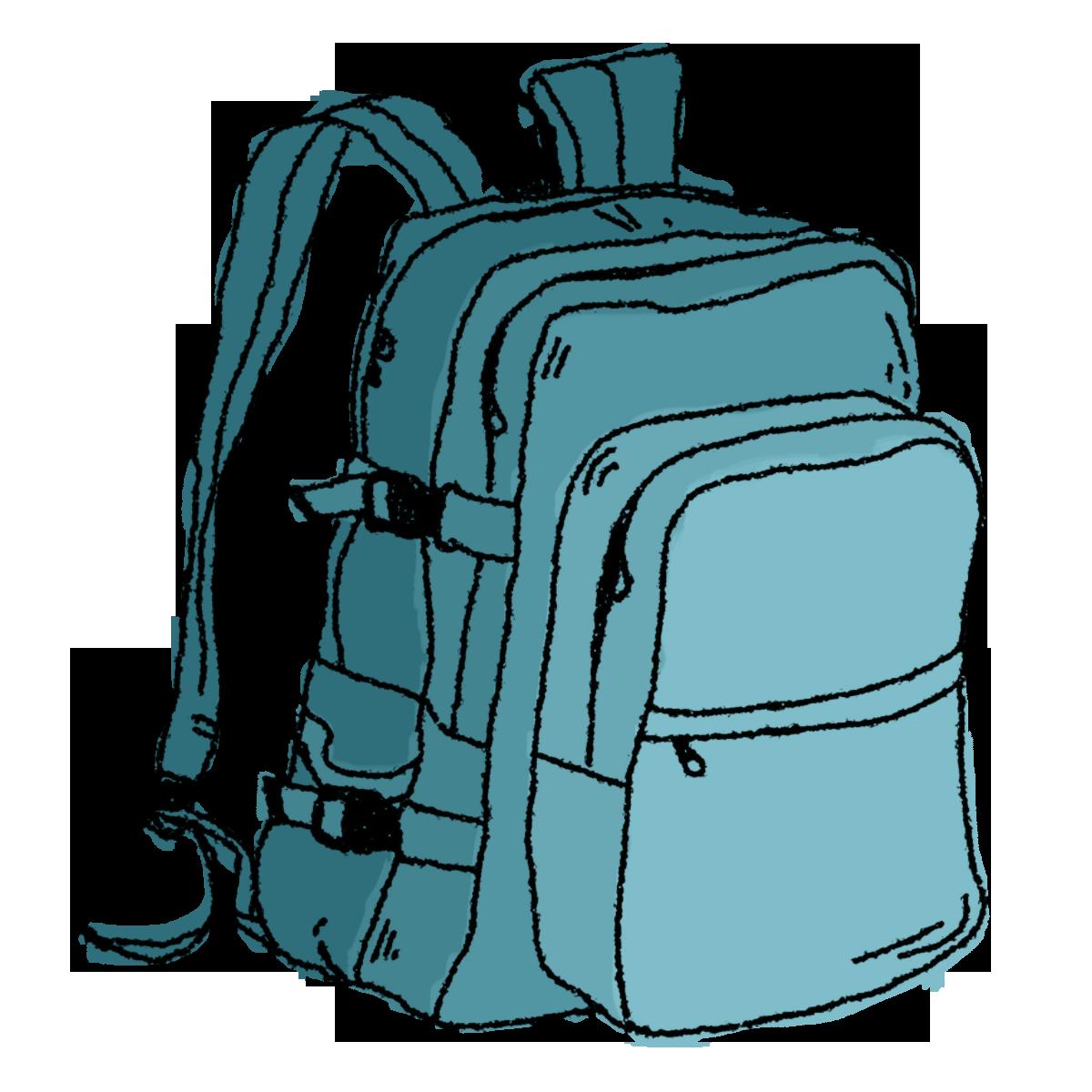jpg freeuse stock Backpack Clipart transparent background