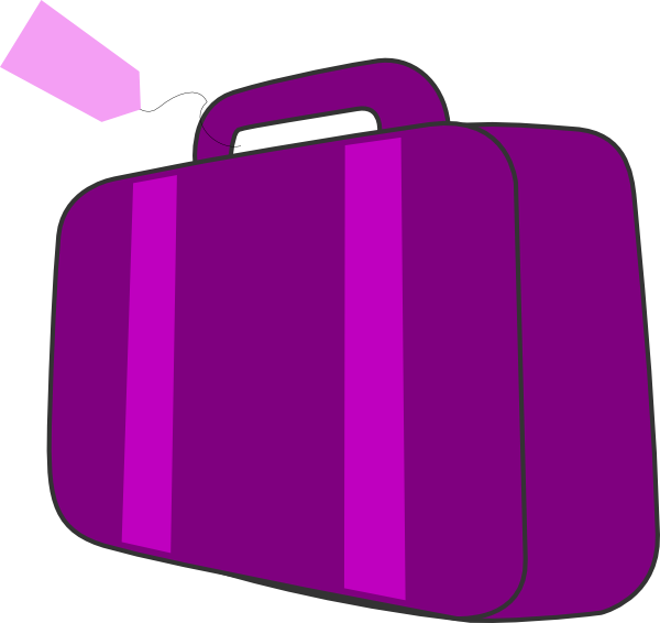 clipart Bags clipart purple bag. Suitcase clip art at.