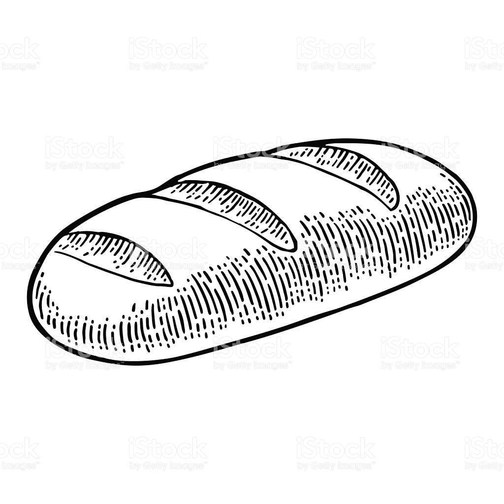 picture free stock French bread at paintingvalley. Baguette drawing