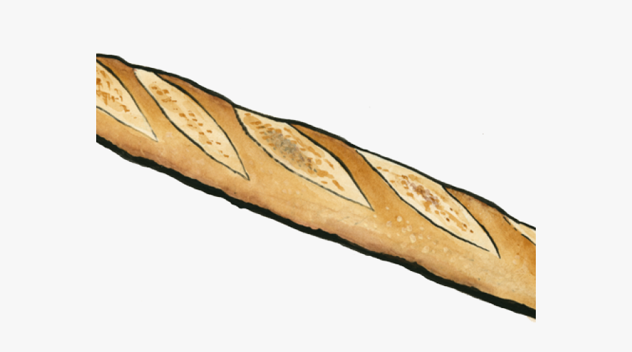 clip art royalty free library Baguette drawing. Drawn bread free