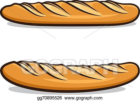 banner freeuse library Baguette drawing. Vector art french clipart