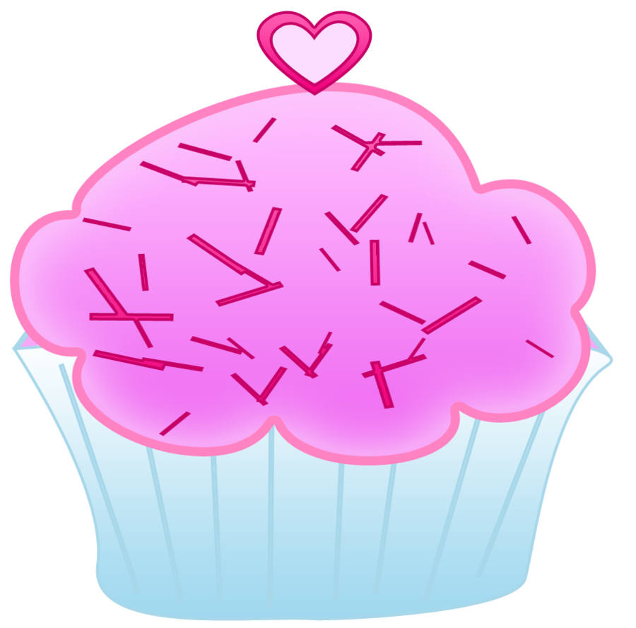image stock Pink cupcake by worddraw. Bake clipart cake stall.