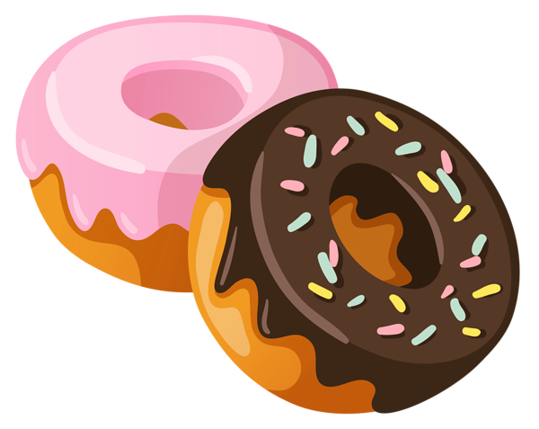 picture royalty free download Baked goods clipart. Donuts png picture planner.