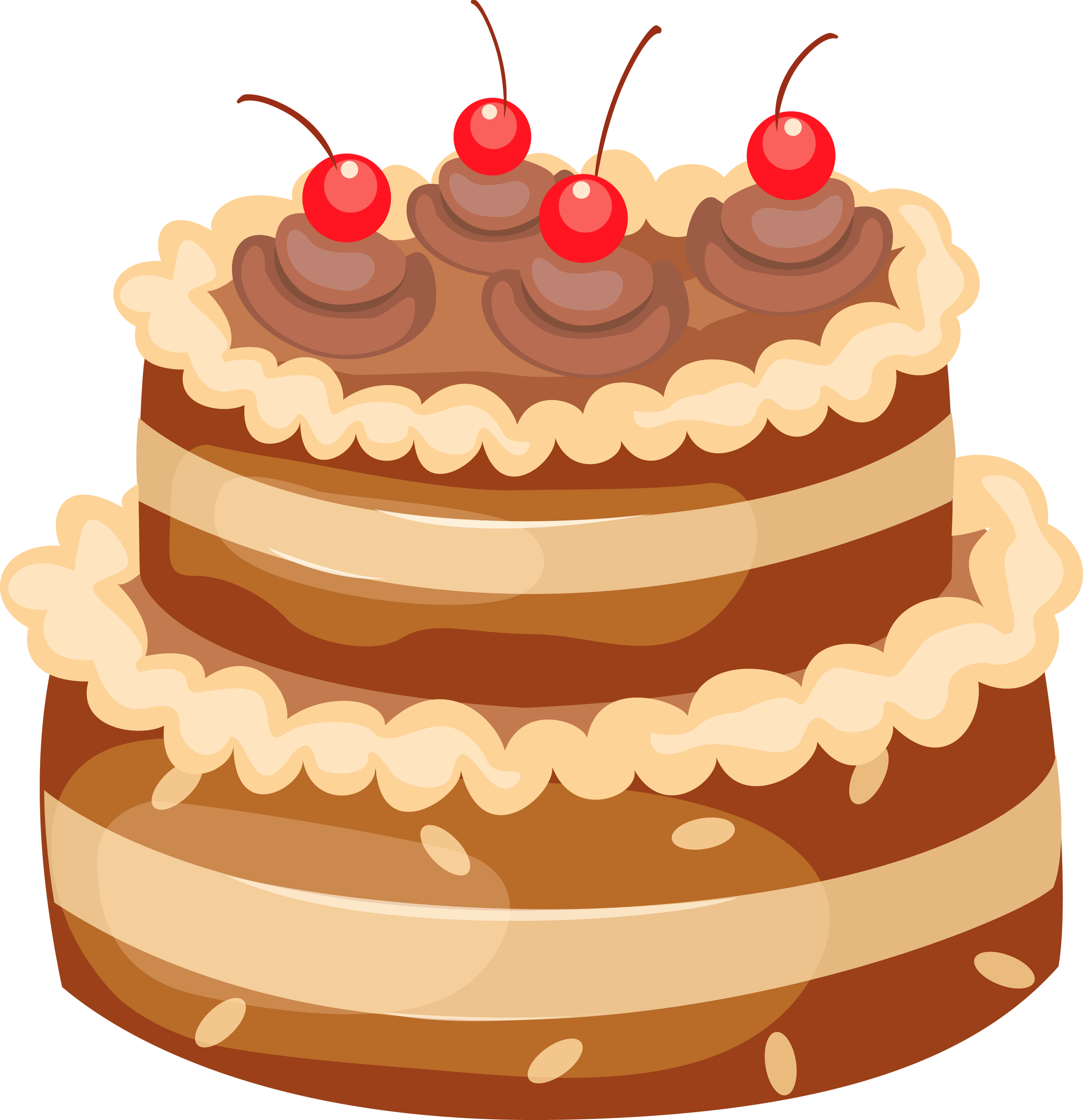 graphic transparent stock Beach clipart cake. Chocolate with cherries png.