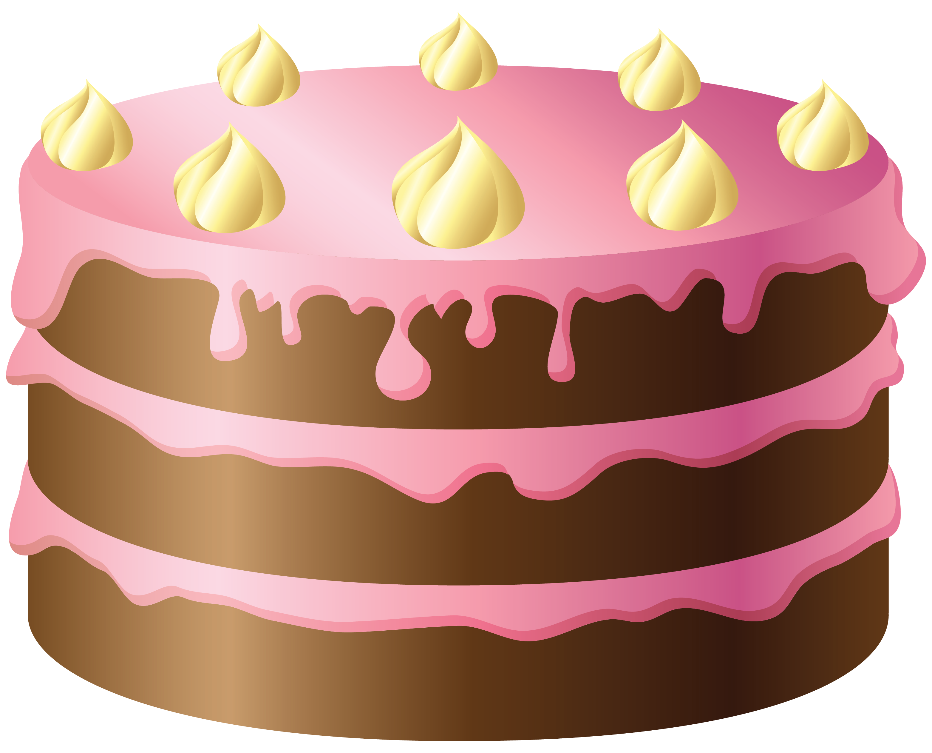 svg black and white stock Chocolate cake with pink. Bakery clipart baking class.