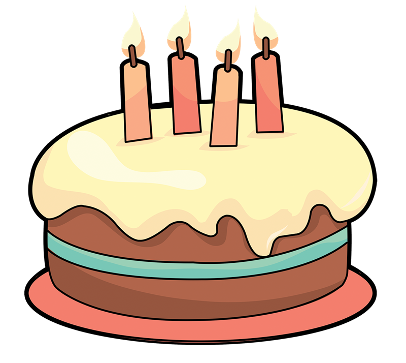 svg royalty free January birthday clipart. Baked goods simple cake.